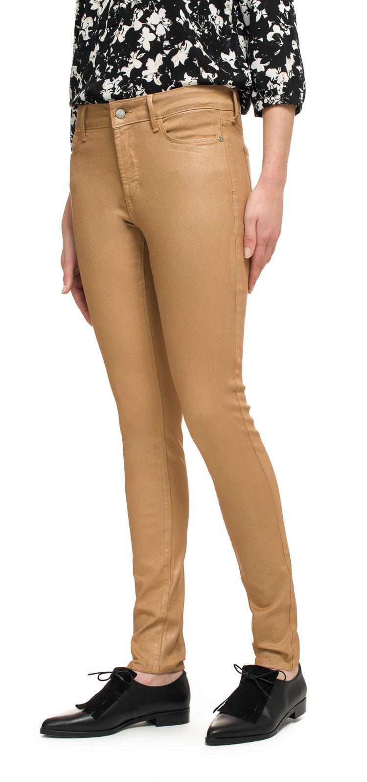 Image of NYDJ Jeans Ami Skinny Legging in rose gold coated denim Taille 34